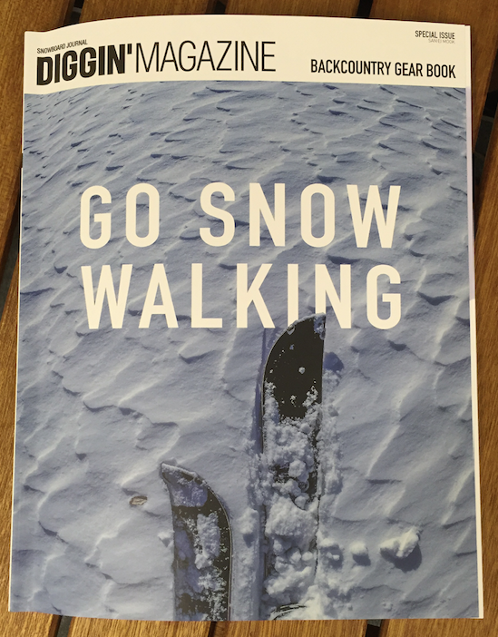 DIGGIN'MAGAZINE 「GO SNOW WALKING」BACKCOUNTRY GEAR BOOK