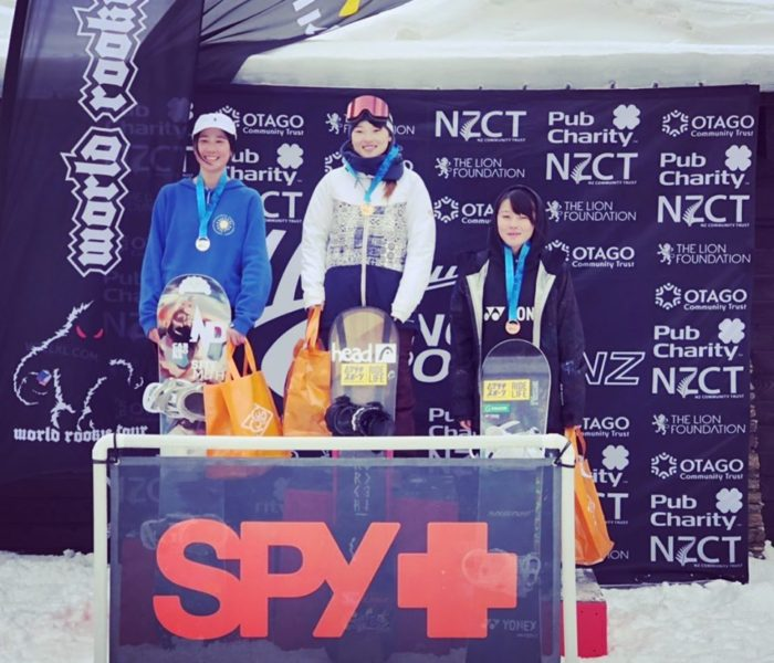 Spy Optics NZ Freestyle Open Rookie Fest 2019で芳家里奈が優勝。