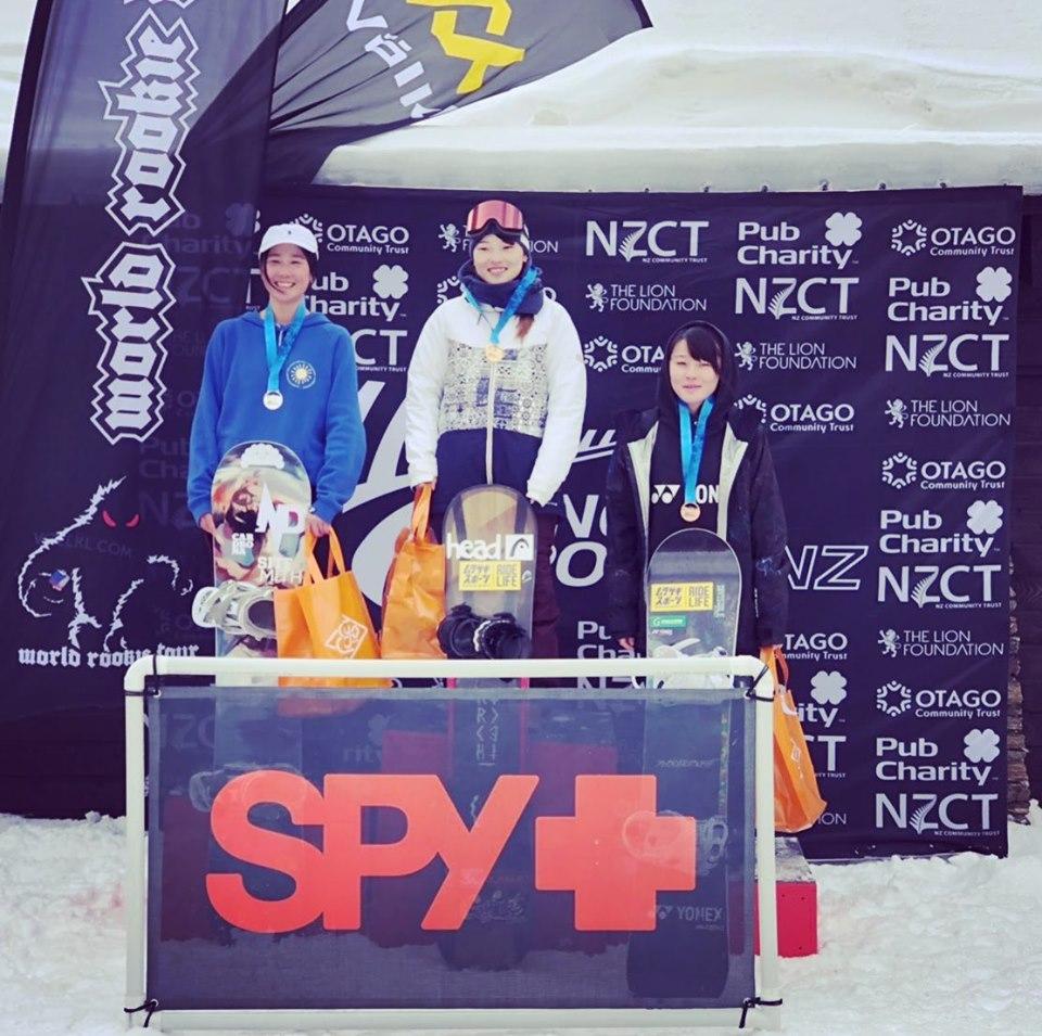 Spy Optics NZ Freestyle Open Rookie Fest 2019で芳家里奈が優勝。