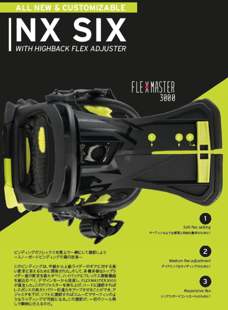 19-20モデル ハイバックのフレックスを自由に調整できる新コンセプトビンディング「NX SIX」柴崎樹里の動画も公開