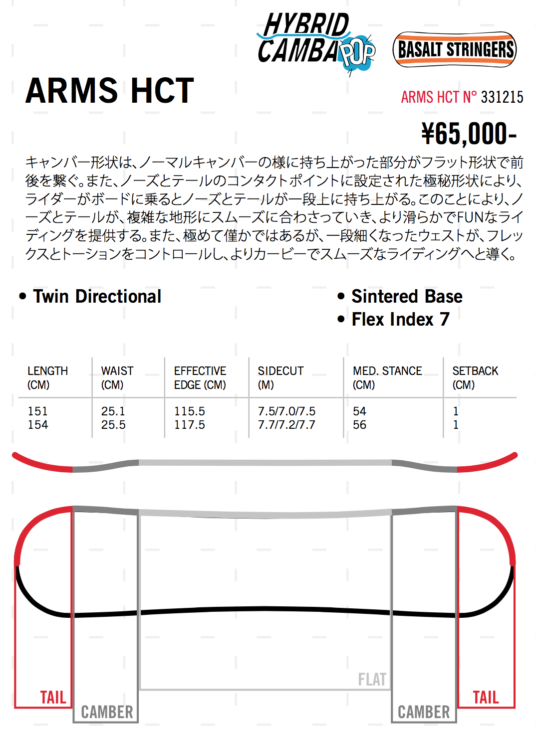 head snowboards NEW TOPIC 15-16モデル「ARMS HCT」