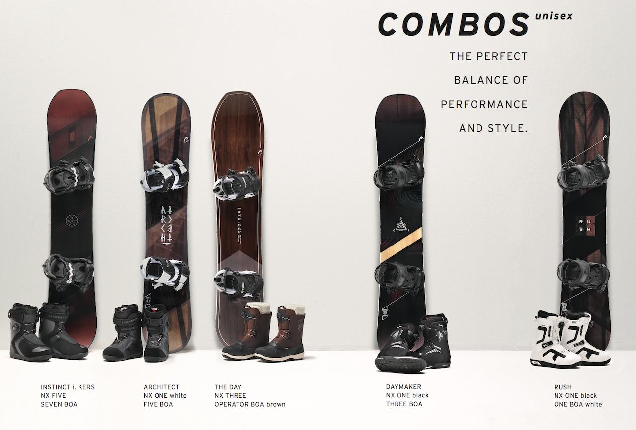 18-19モデル head Snowboards「Combo」カラーコーディネート編