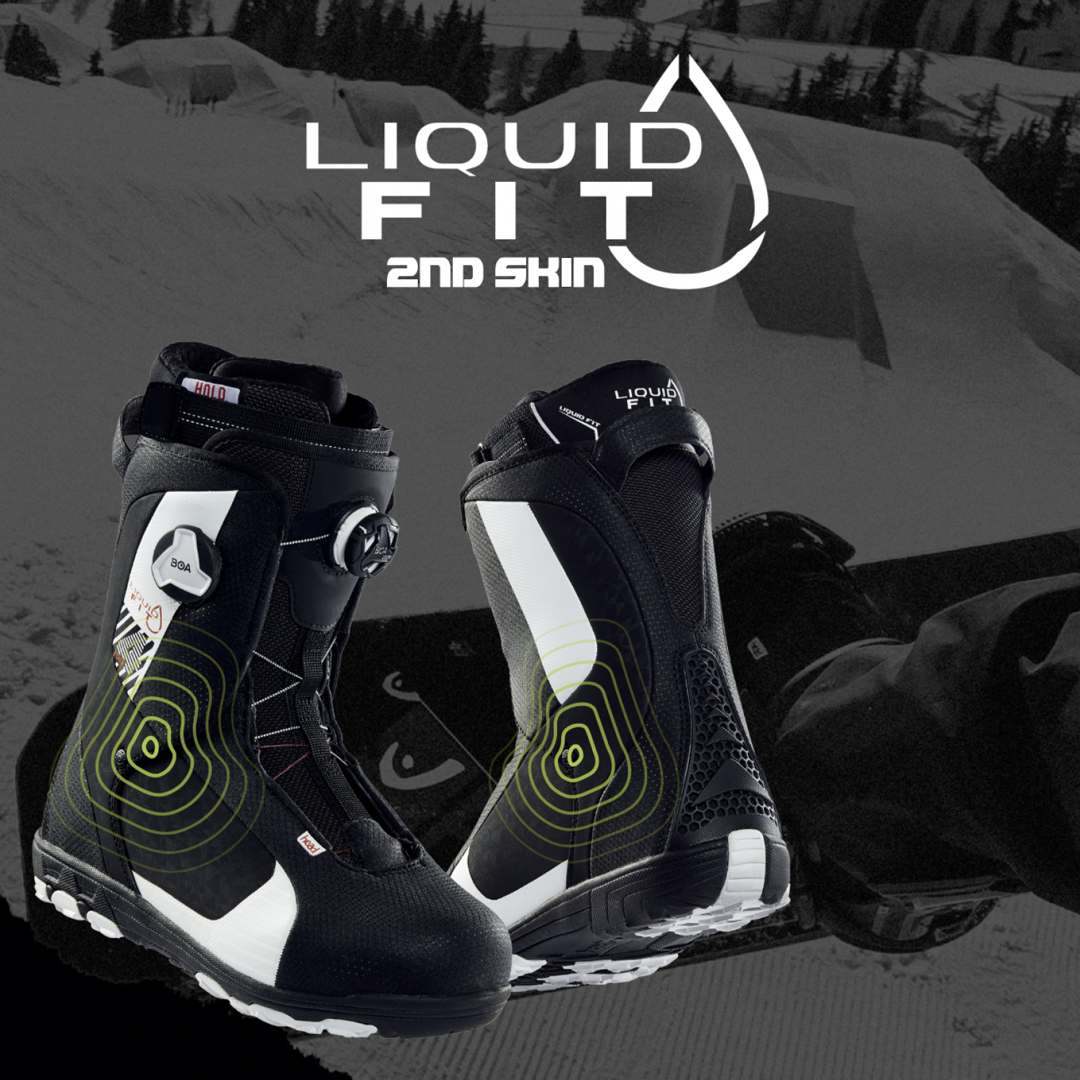 これまで以上にブーツのフィット感がアップ!  Liquid Fit テクノロジーとは?