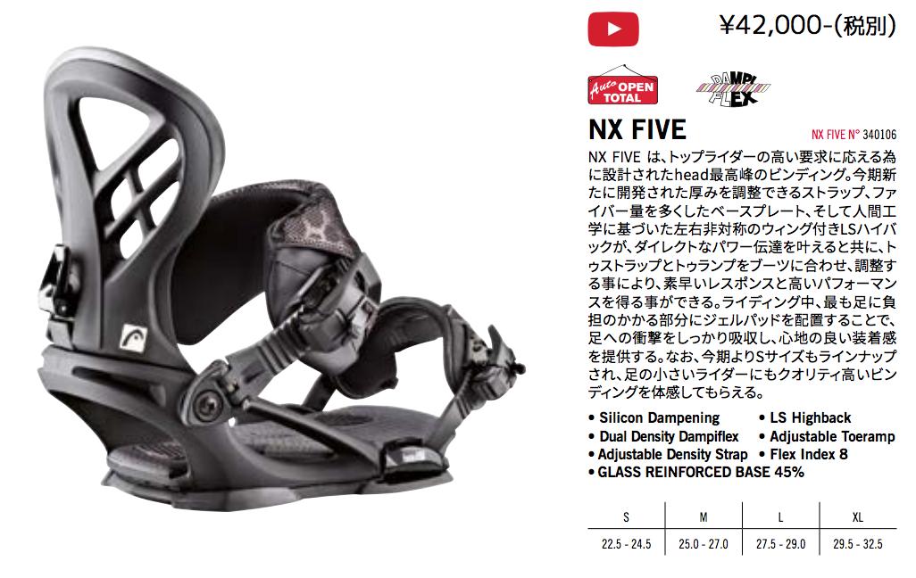 Sサイズが加わった「NX FIVE」